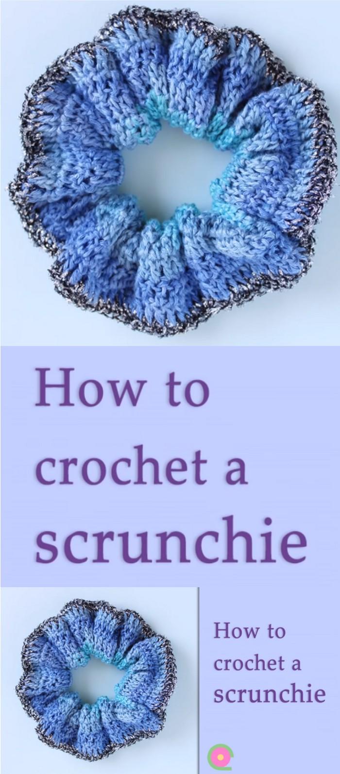 How To Crochet A scrunchies Free Crochet Pattern