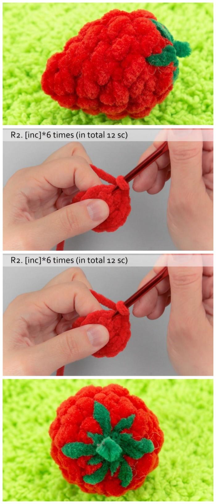 Strawberry Making Free Crochet Pattern