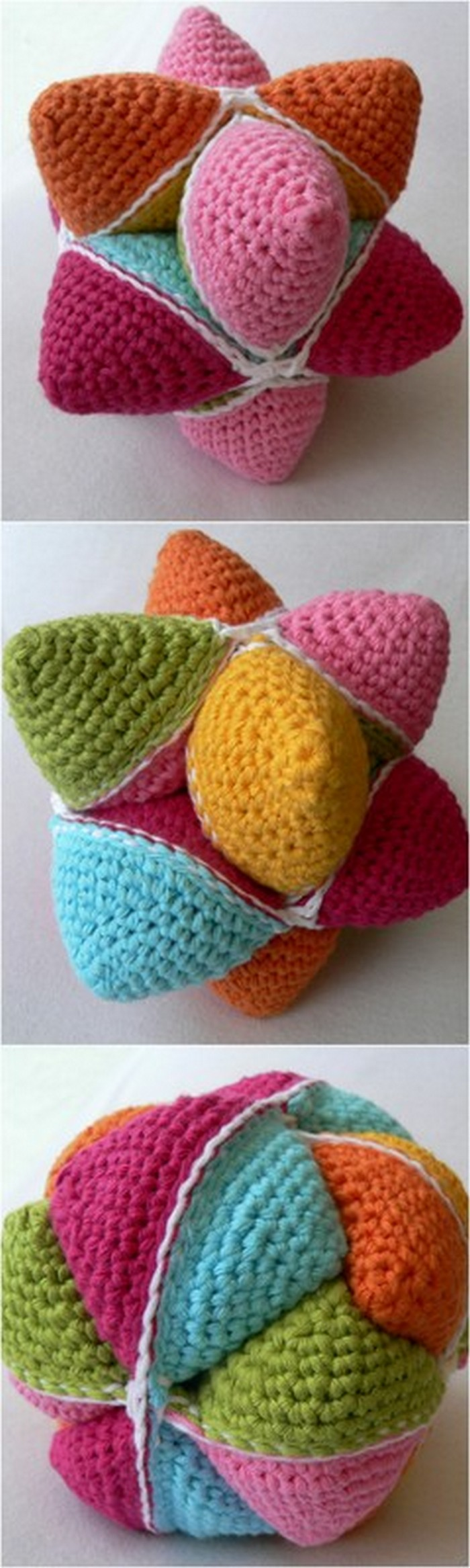 3 D Flowers Free crochet Pattern