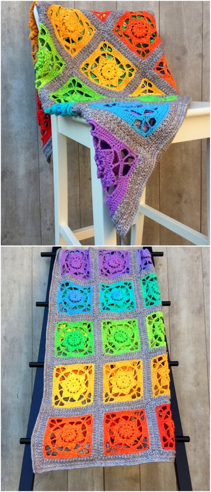 Simple crochet Chair Cover Free crochet pattern