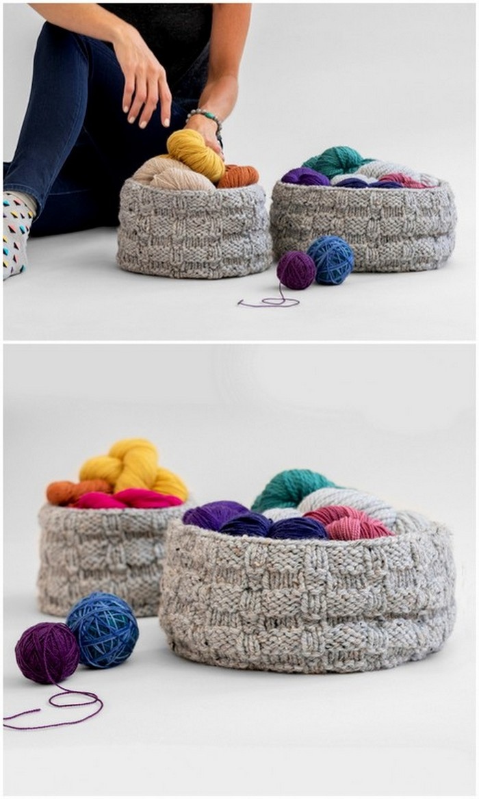Granny Basket Free Crochet Pattern