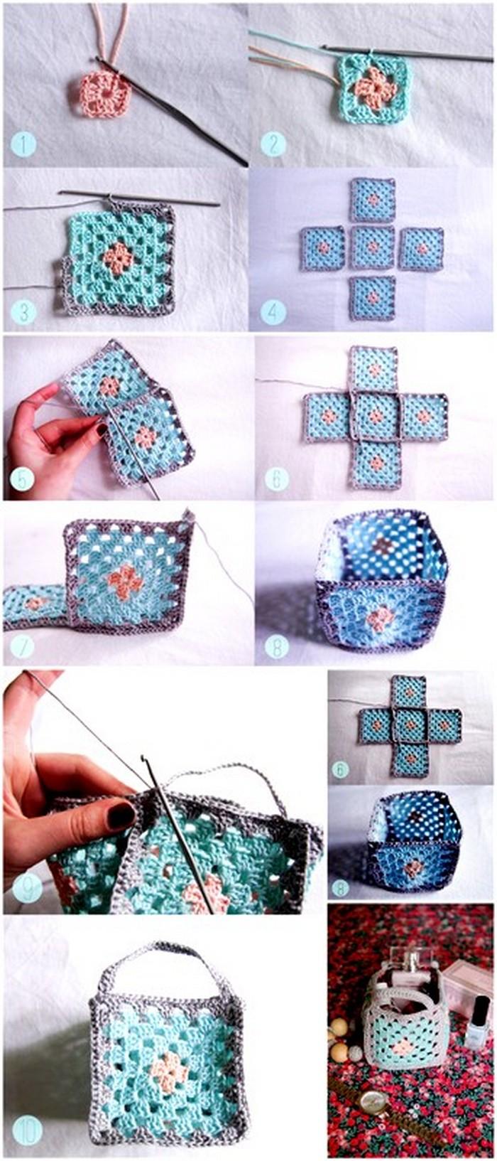 Dressing Table Basket Free Crochet pattern