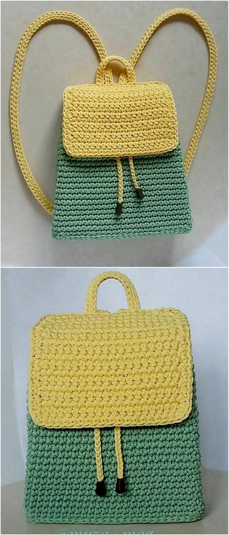 Stylish Bag Pack Free Crochet Pattern