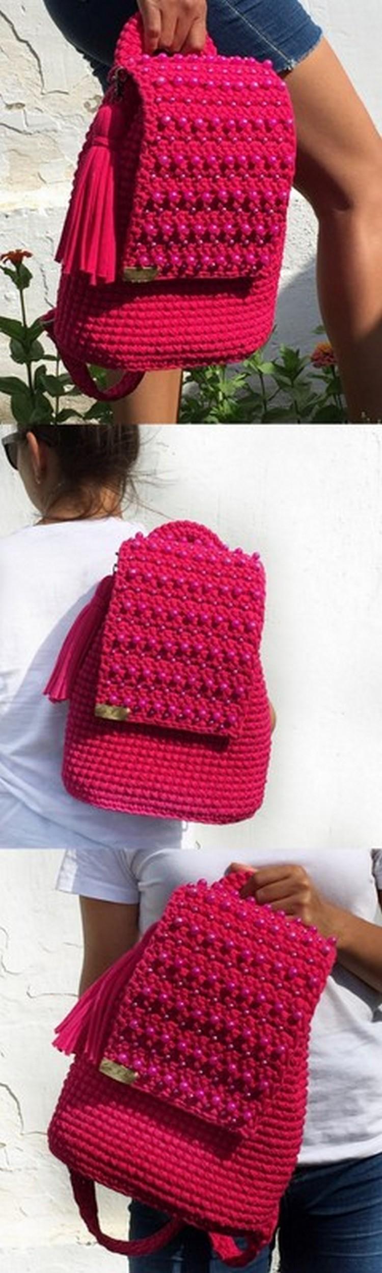 Stylish Hand Bag Free Crochet Pattern