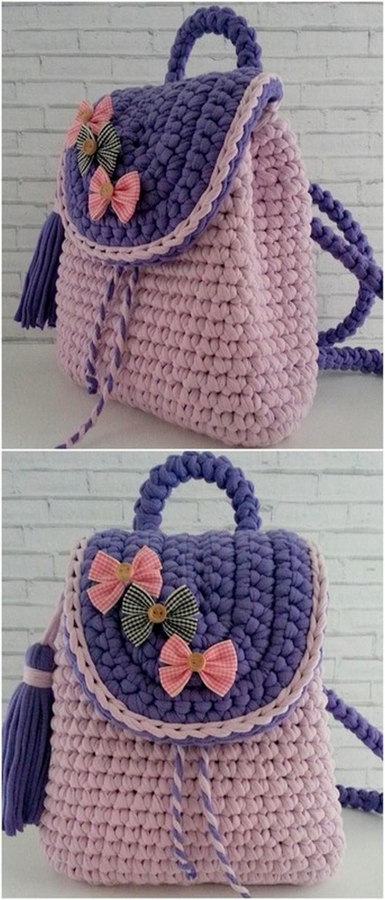 Beautiful Bow Bag Free Crochet Pattern