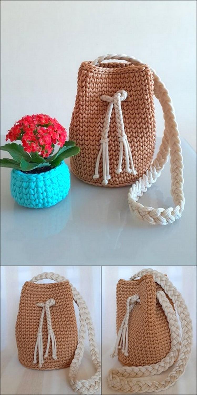 long Stylish Bag Free Crochet pattern
