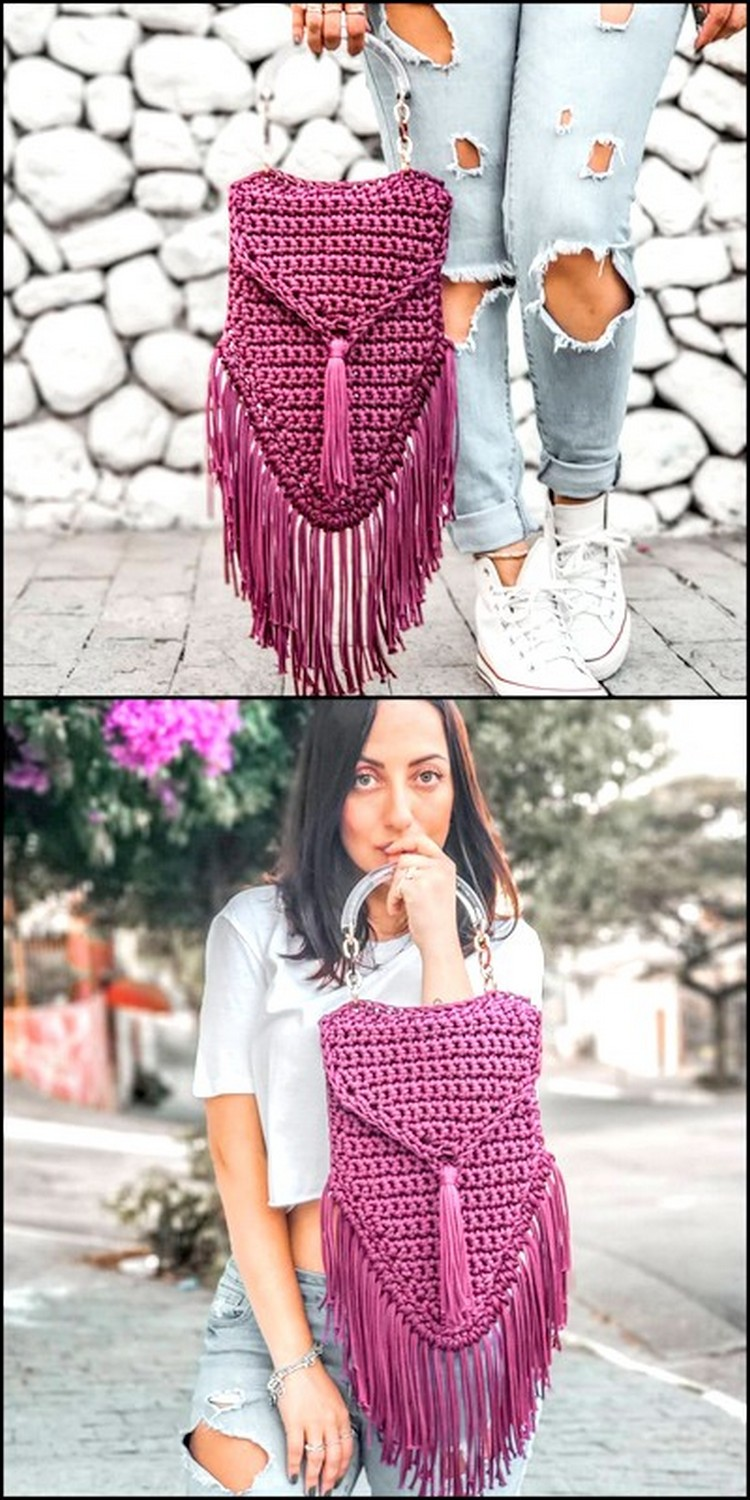 Attractive And Cool Bag Free Crochet pattern