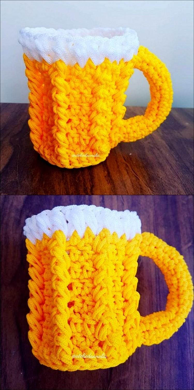 Hot Yellow Mug Free Crochet Pattern