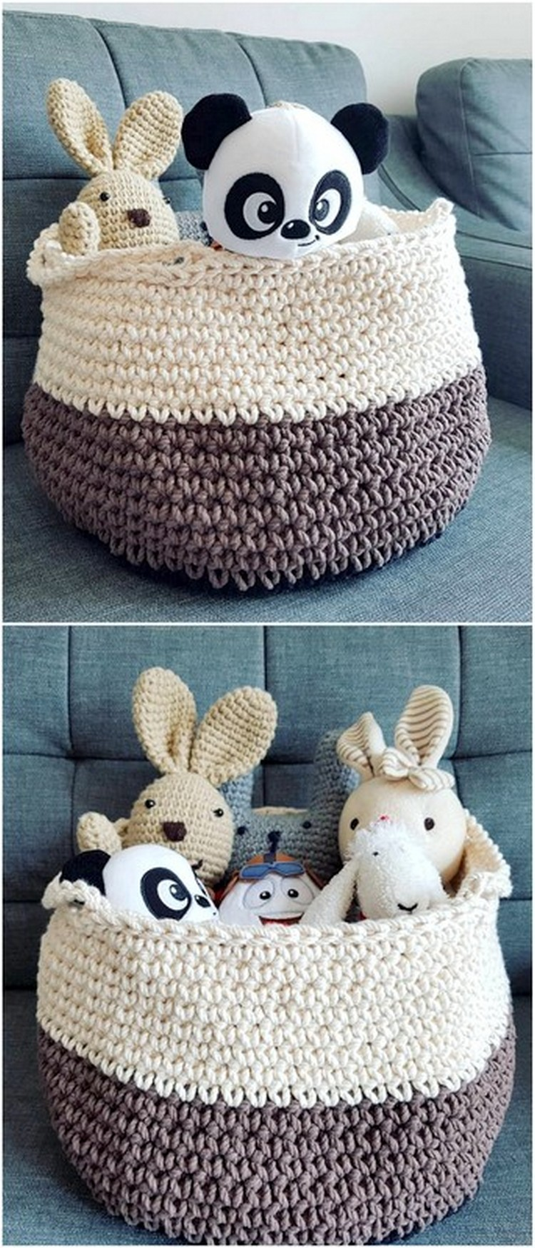 Toy basket Free Crochet Pattern
