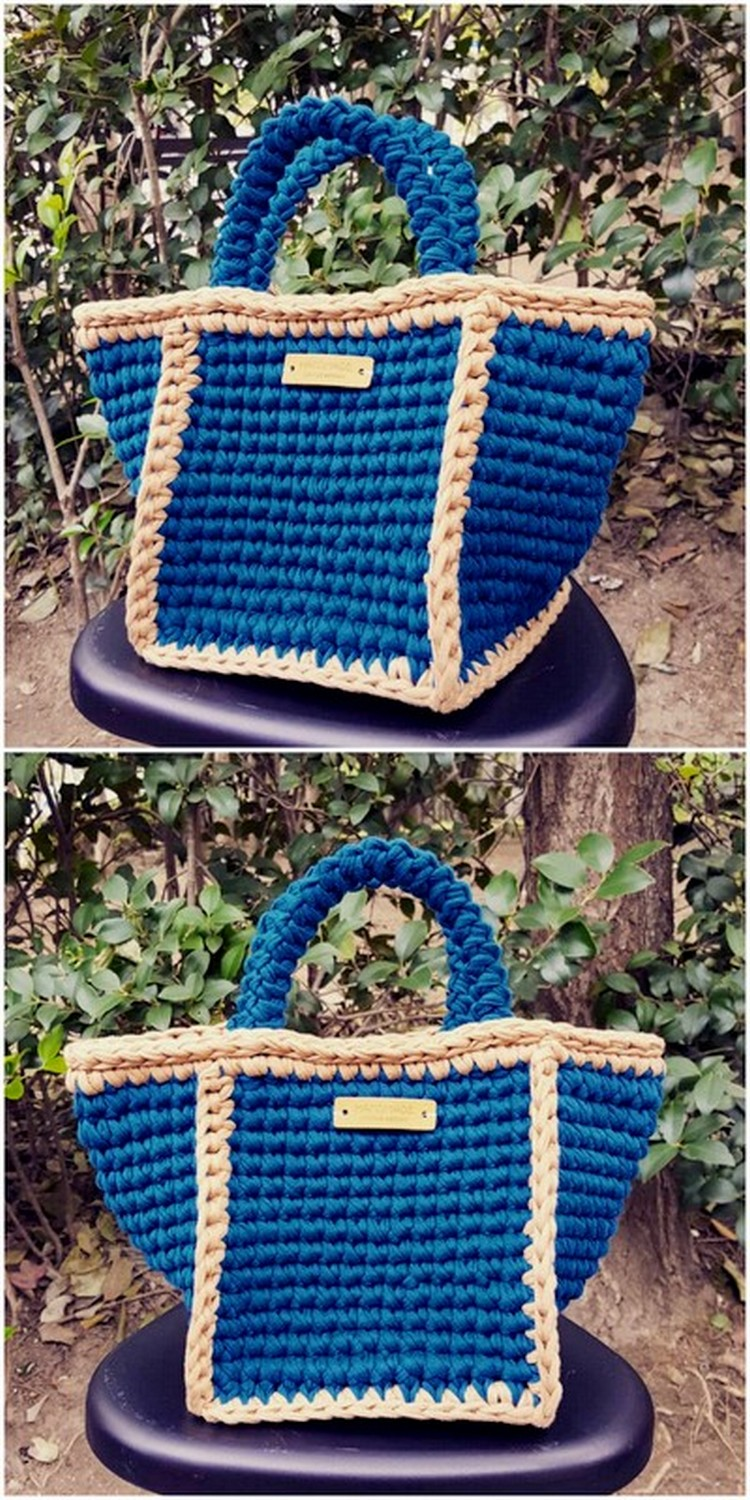 Blue Bag Free Crochet Pattern