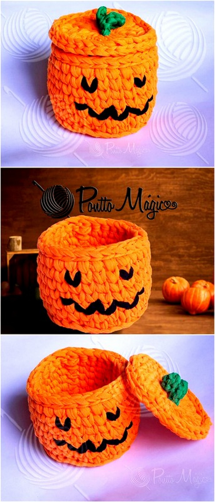 Pumpkin Theme Basket Free Crochet Pattern
