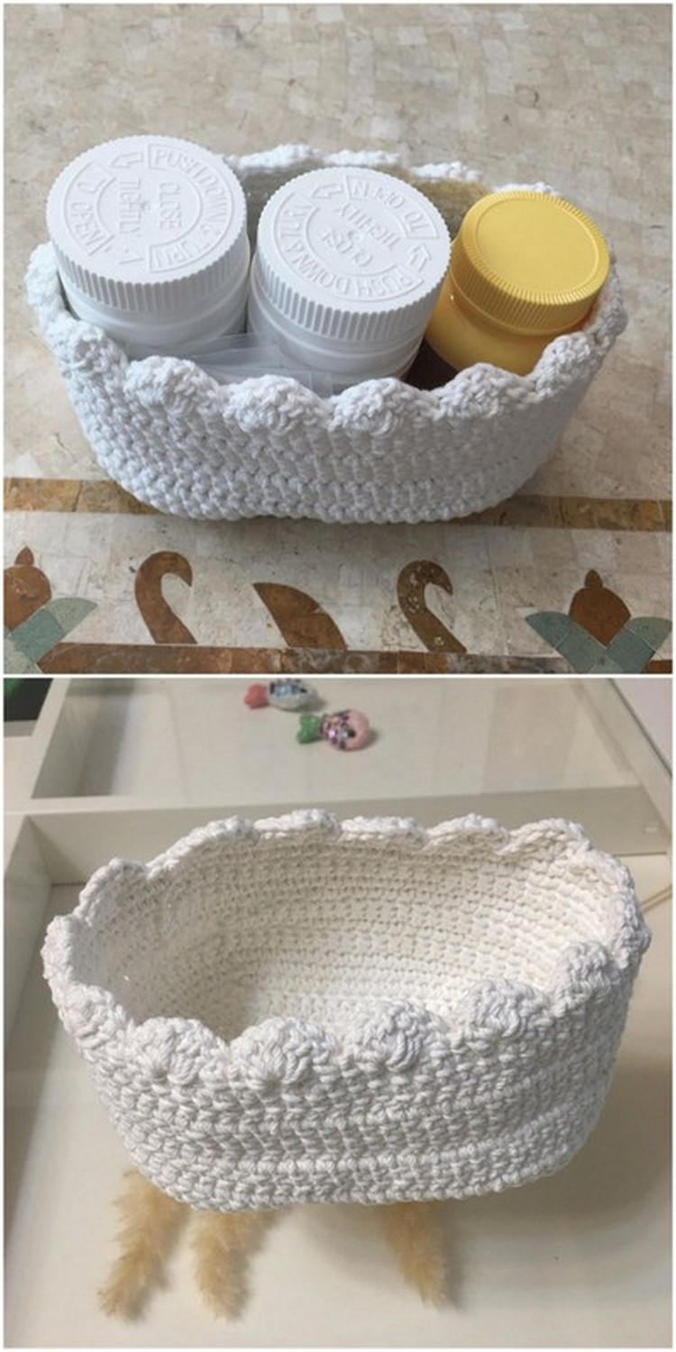 Small Basket Free Crochet Pattern