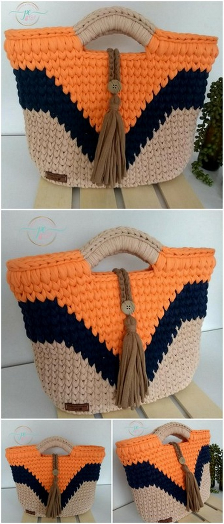 Orange Bag Free Crochet Pattern