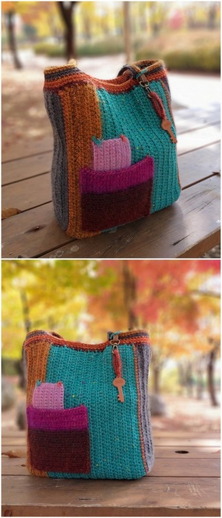 Simple School Bag Free Crochet Pattern