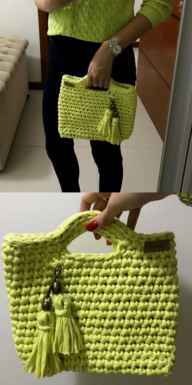 C Green Bag Free Crochet Pattern