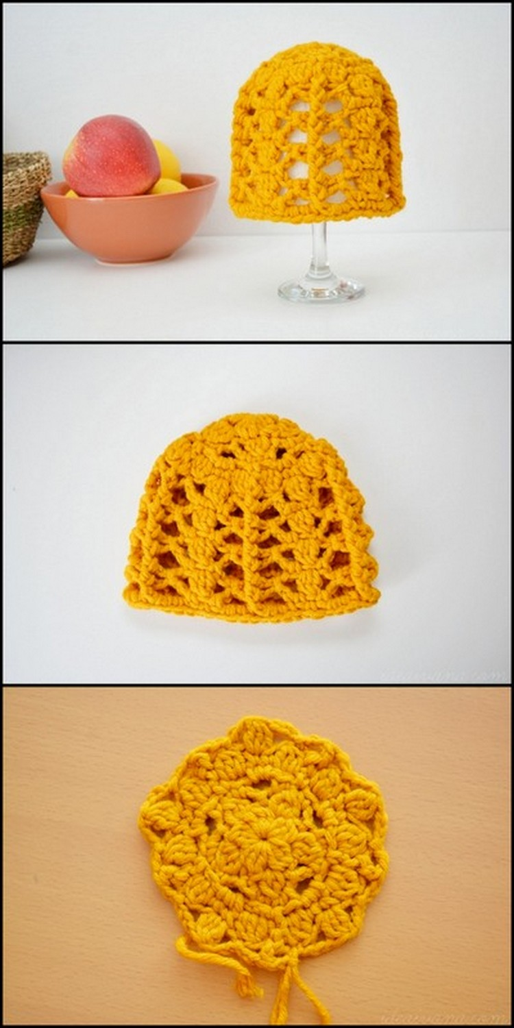 Glass Cover Free Crochet Pattern