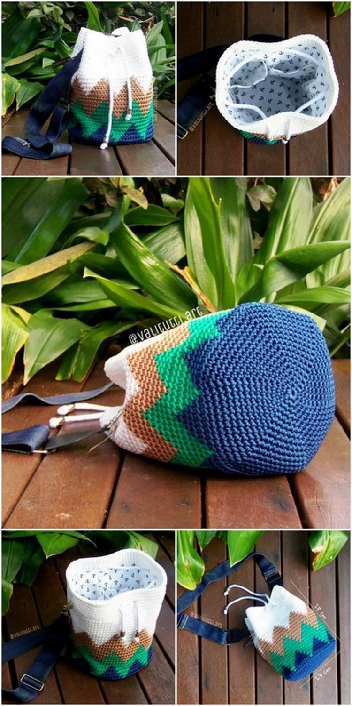 Simple Sack Pack Free Crochet Pattern