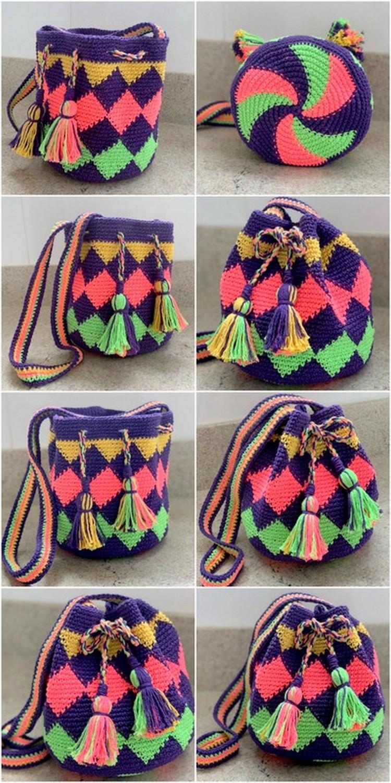 Solid Base Bag Free Crochet Pattern
