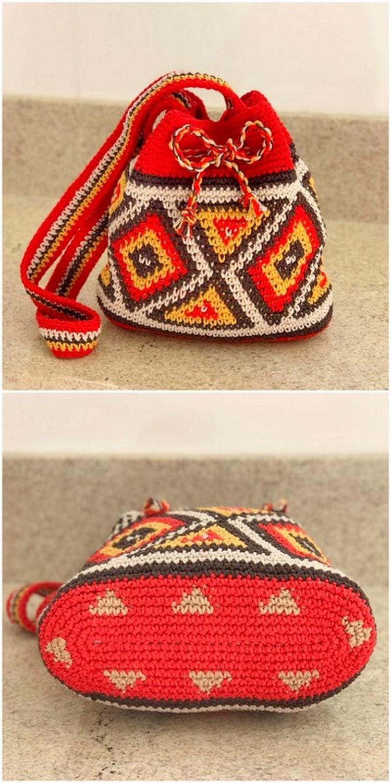 Nice Red Crochet Bag Free Crochet Pattern