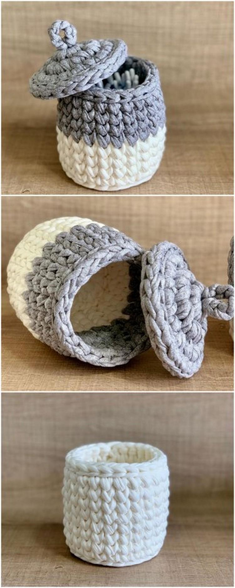 Small Lid Jar Free Crochet Pattern