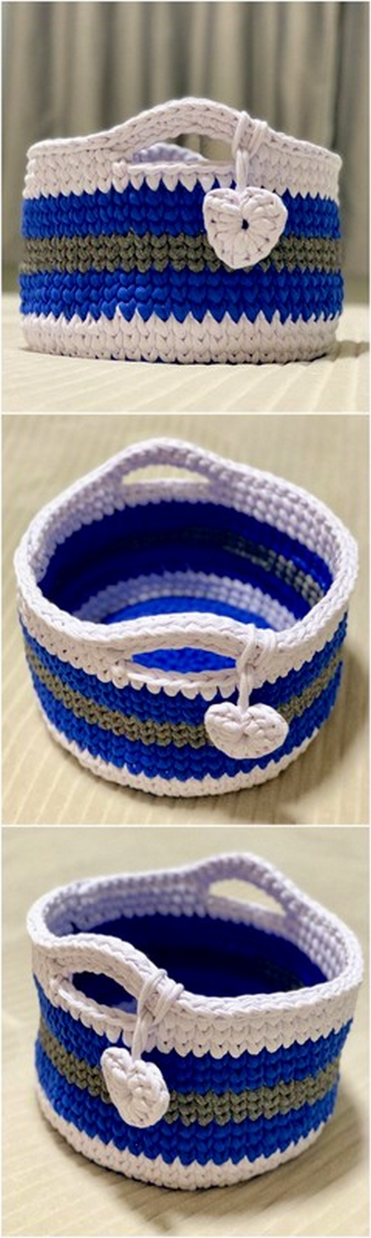 Multicolor Basket Free Crochet pattern