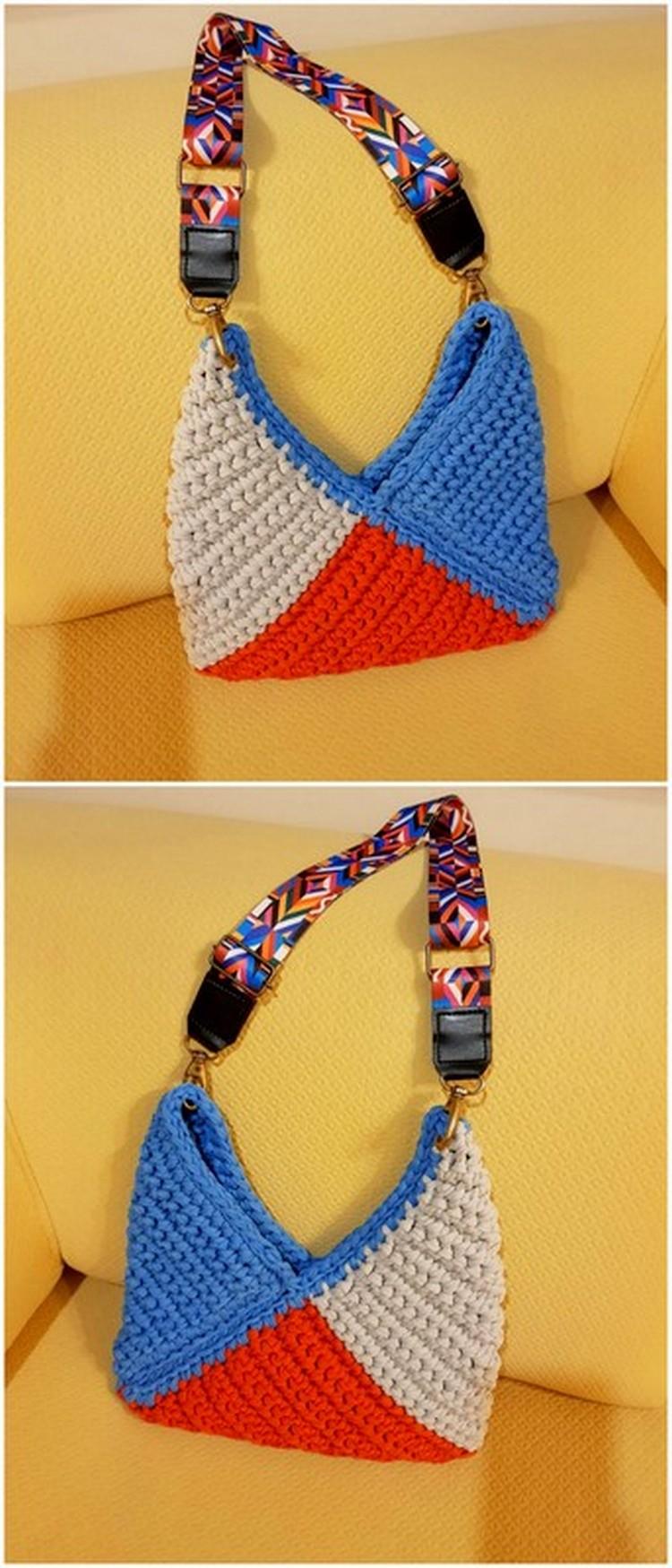 V Shape Bag Free Crochet pattern