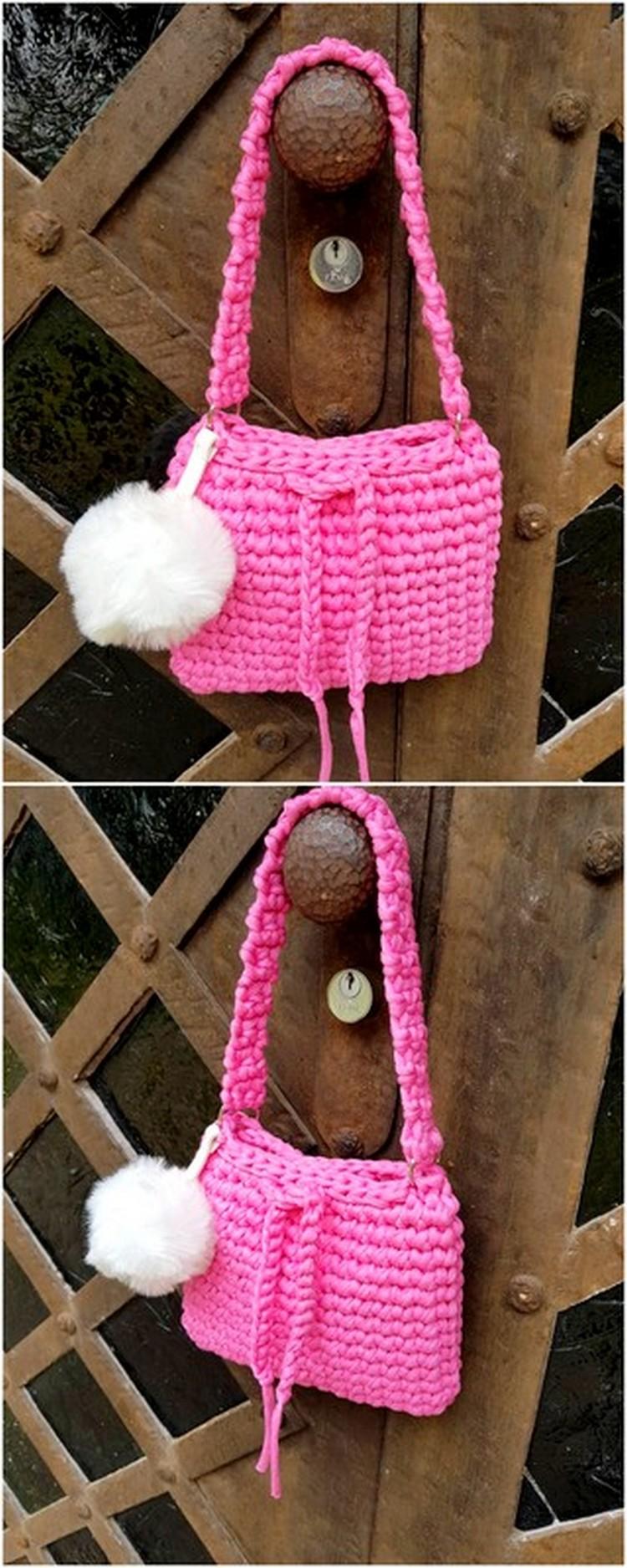 Pretty Pink Bag Free Crochet pattern