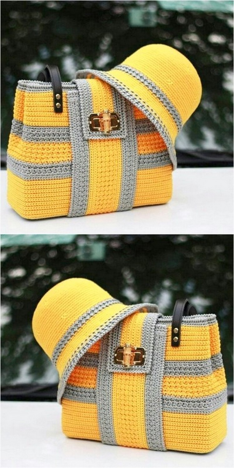 Attractive Bag And Hat Free Crochet Pattern