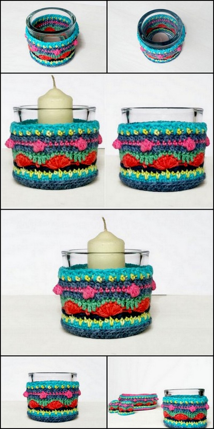 Candle Stand Cover Free Crochet Pattern
