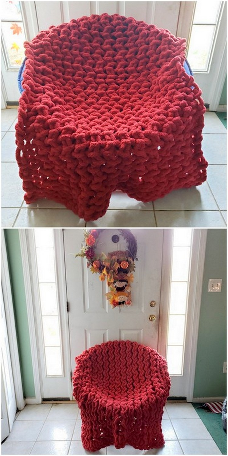 Plastic Chair Cover Free Crochet Pattern