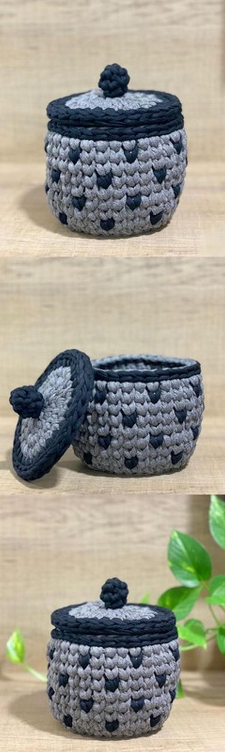 Small Crochet Jar Free Crochet pattern