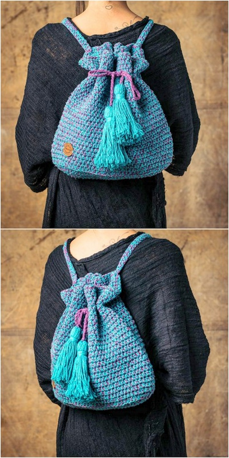 Attractive Sack Pack Free Crochet Pattern