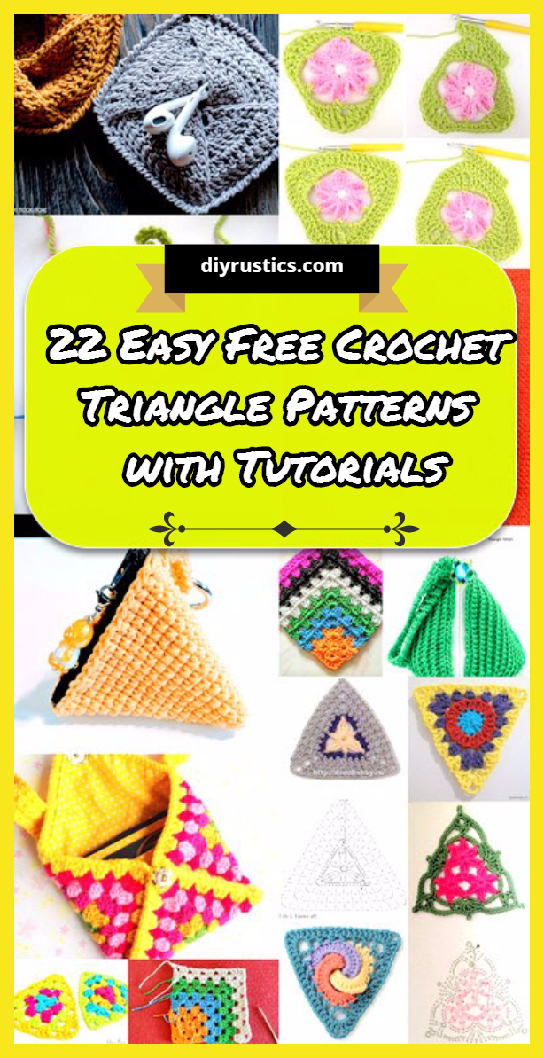 22 Easy Free Crochet Triangle Patterns with Tutorials