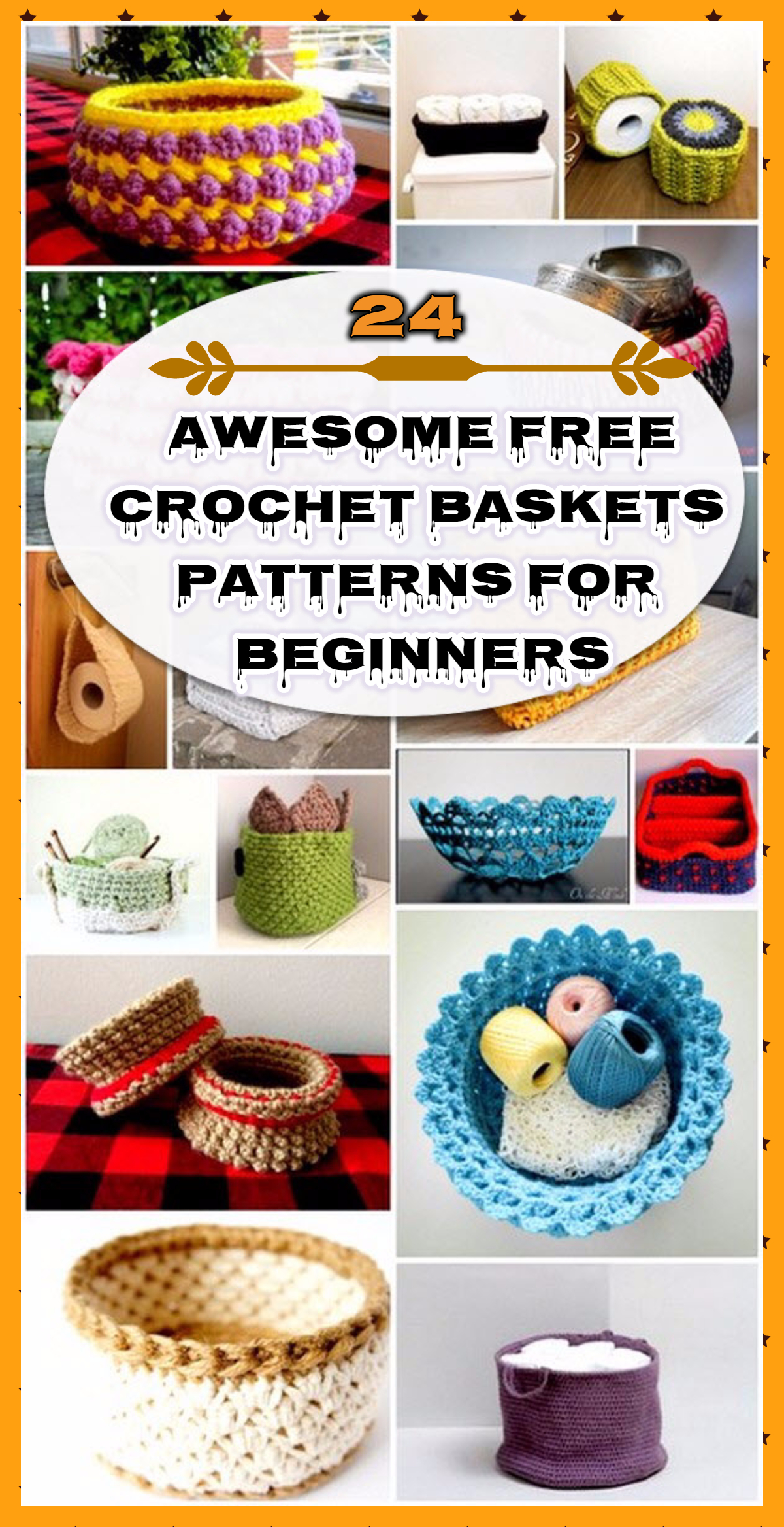 24 Awesome Free Crochet Baskets Patterns For Beginners
