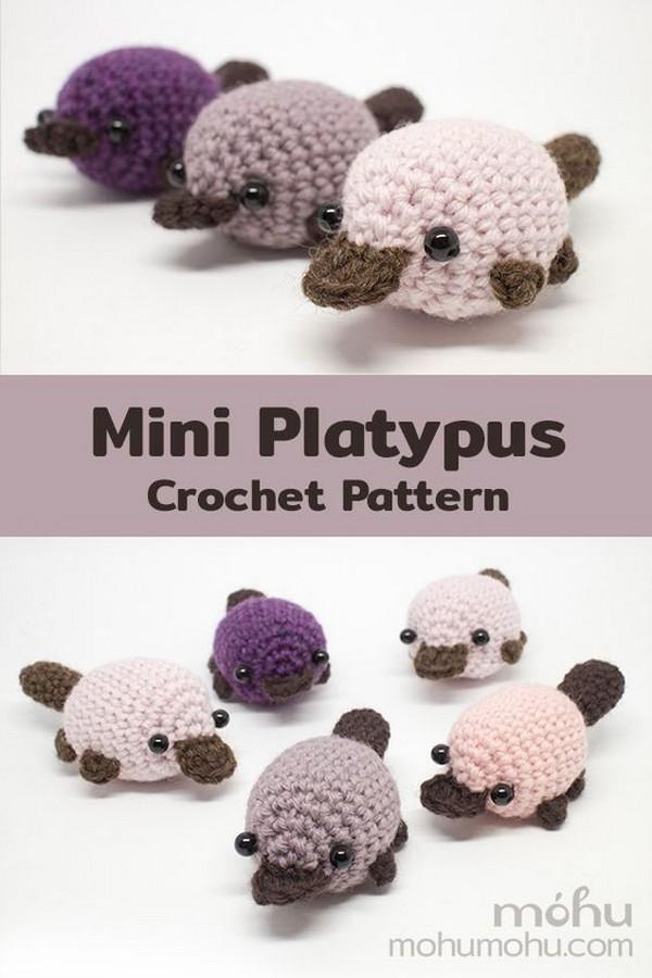 Crochet Mini Amigurumi Platypus Free Patterns