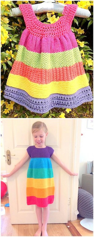 Beautiful Crochet Baby Dress Free Pattern