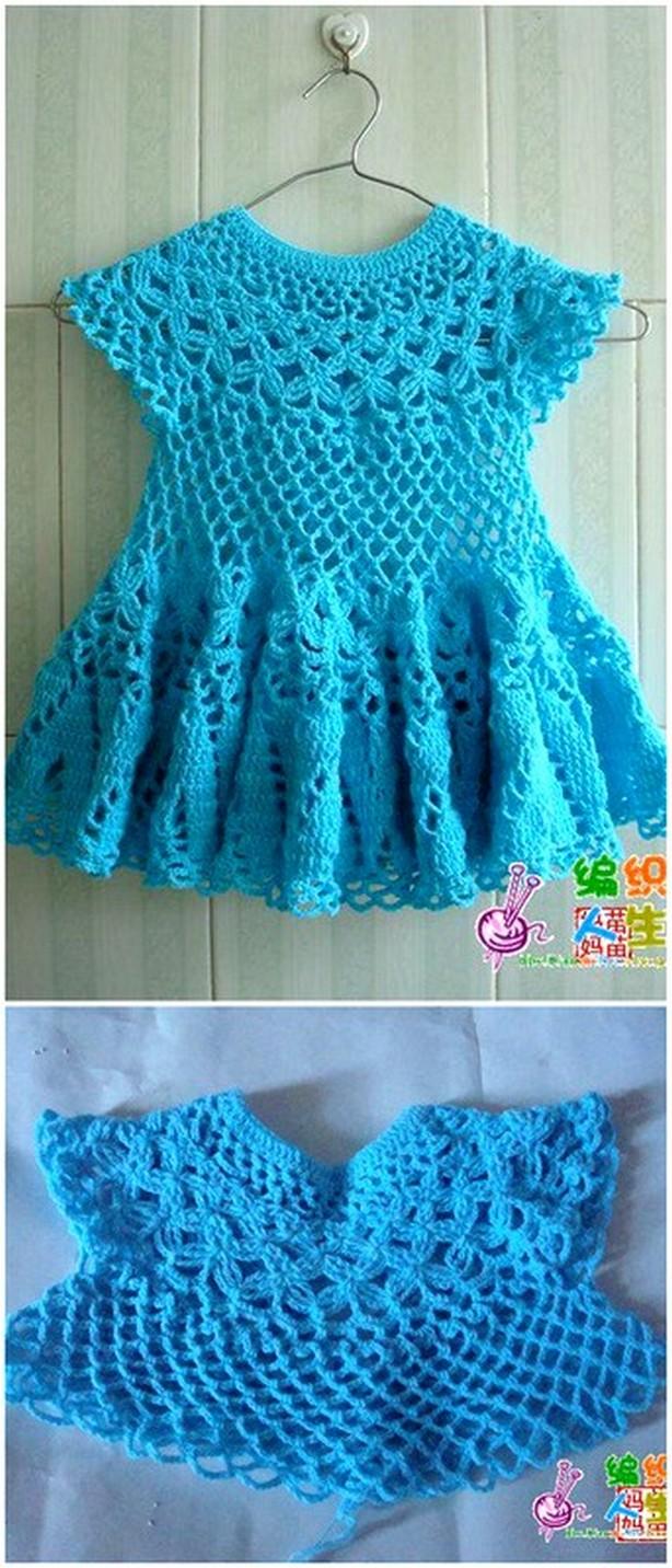 Crochet Fancy Baby Dress Free Pattern