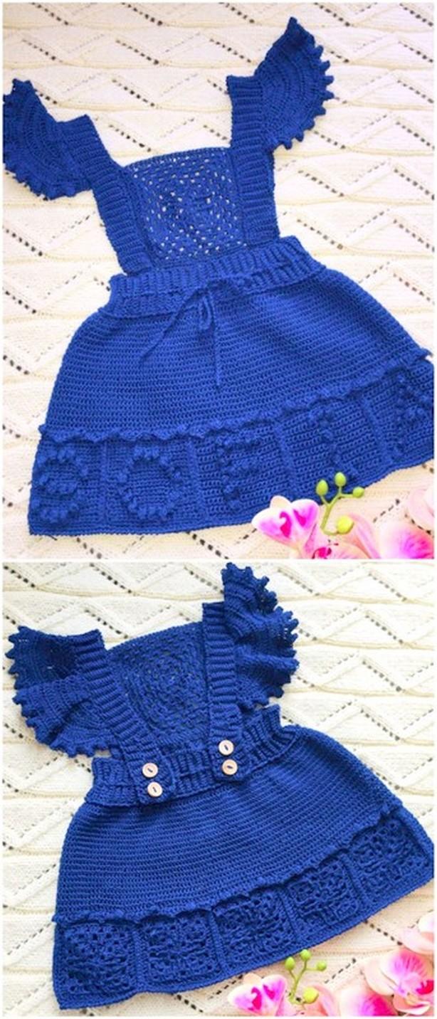 Crochet Wings Baby Dress Free Pattern