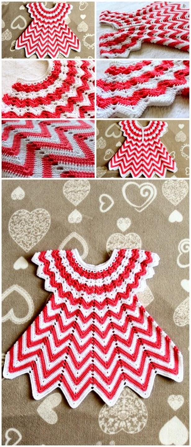 Lovely Crochet Baby Dress Free Pattern