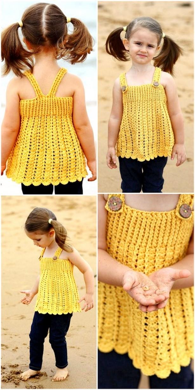 Amazing Crochet Baby Dress Free Pattern
