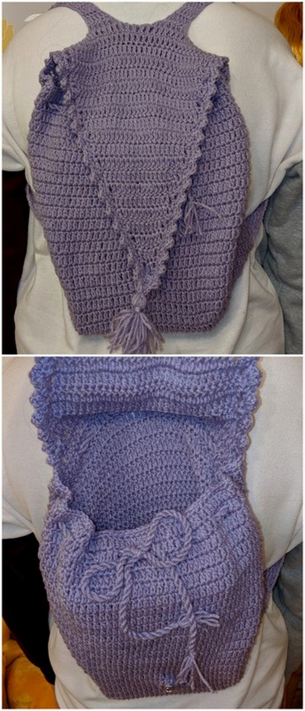 CROCHET LATEST PURPLE BAG