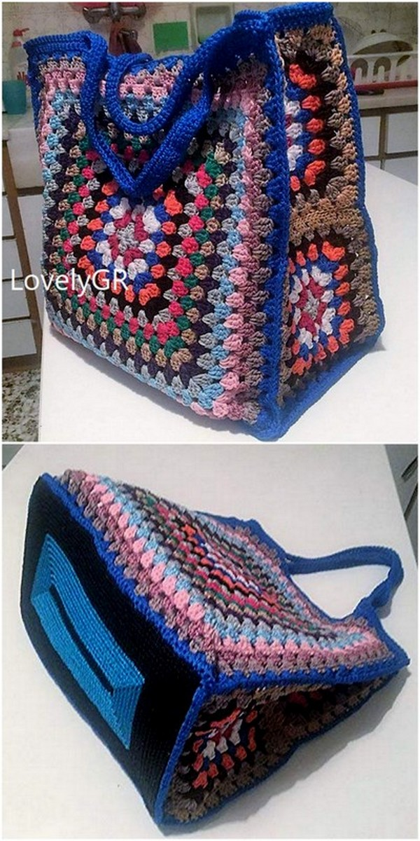 COLORFUL CROCHET MULTI-COLOR BAG