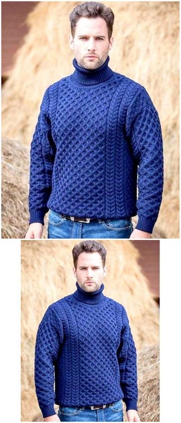Crochet Pullover Pattern For Men's