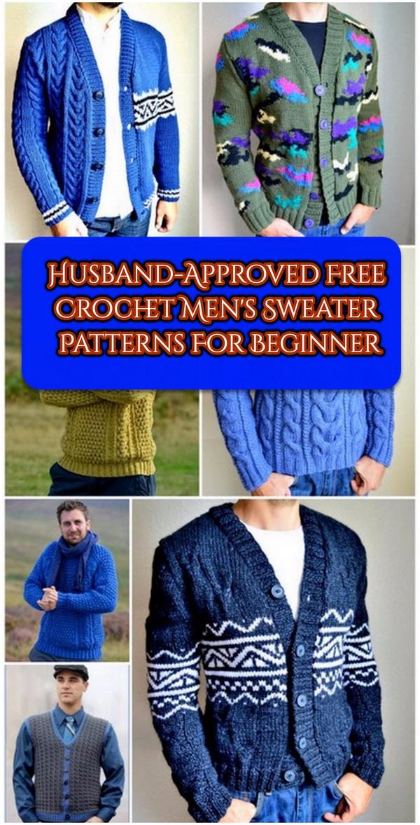 Free Crochet Men's Sweater Patterns