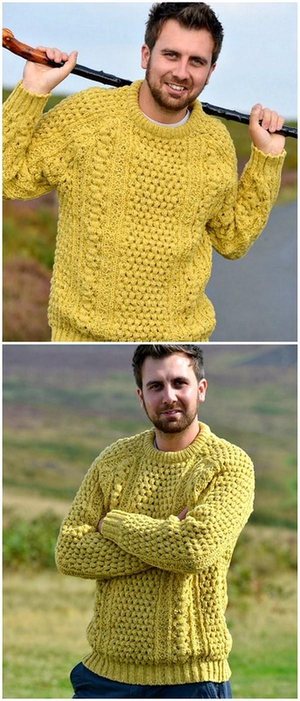 Crochet Stylish Sweater Pattern for men