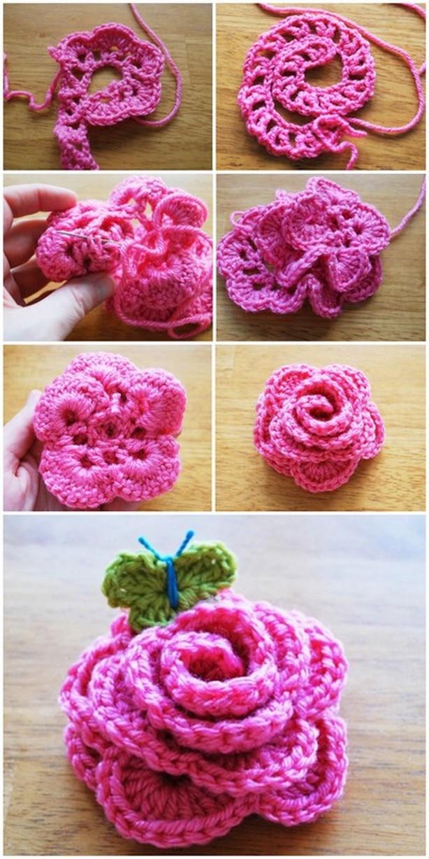 Crochet Fancy Flower Pattern