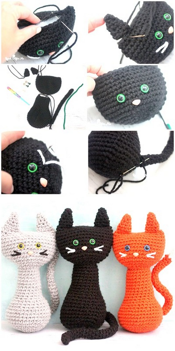 The Cutest Collection of Amigurumi Cat Patterns | Easter crochet ... | 1228x614