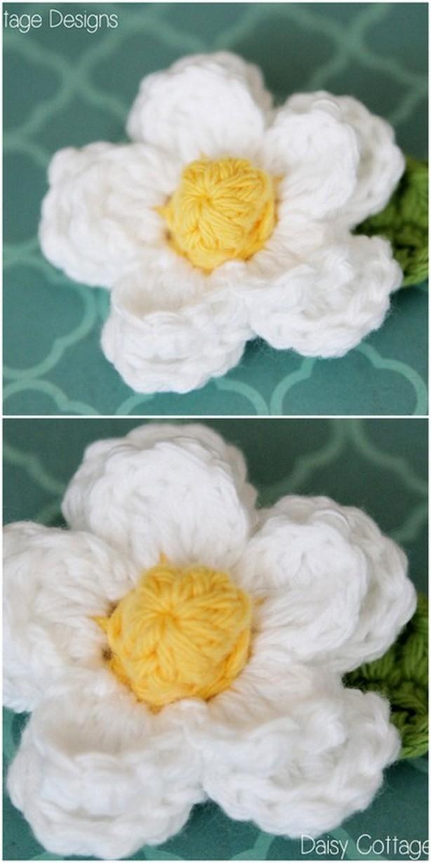 Beautiful White Flower Free Patterns