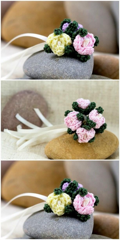 Crochet Flower Pattern For Vases