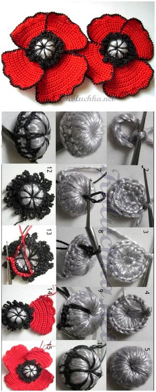 Bright Crochet Flower Design